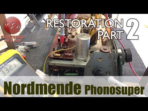 Nordmende Phonosuper radio restoration - Part 2. Ready for a power-up?