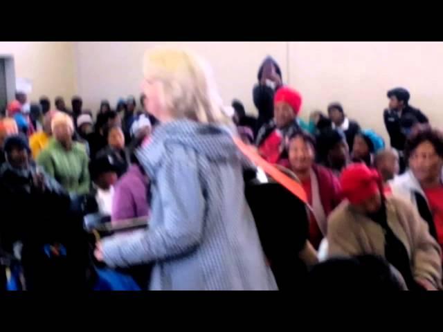 Karin Zoid in Knysna on Mandela Day