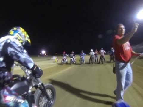 Motorcycle dirt track race Mid-America Speedway 450cc class Aug/10/2013