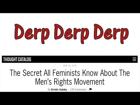 Journalistic Derpism Ep 001- The Secret All Feminists Know About The MRM