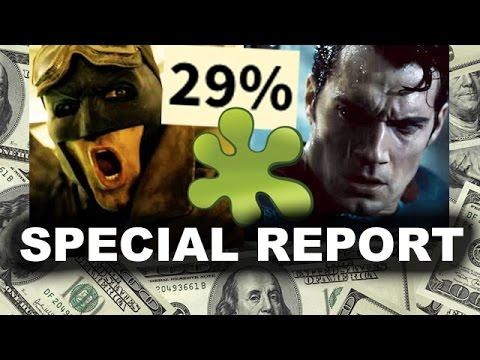 batman v superman box office vs rotten tomatoes critics reaction
