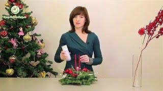 Новогодняя композиция из еловых веток со свечами Мастер-класс практической флористики