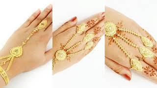 ladies Beautiful Bridal Hand Jewellery | Beautiful Ring Bracelets Designs | Bridal Hand Jewellery