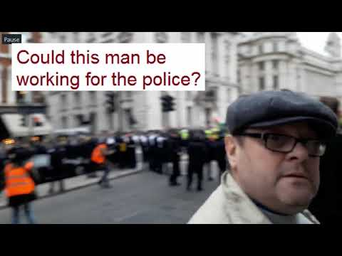 Suspicious Man At Yellow Vest Protests - London