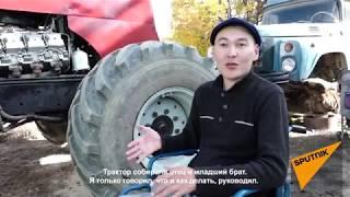 Как кыргызстанец, прикованный к коляске, сконструировал чудо-трактор