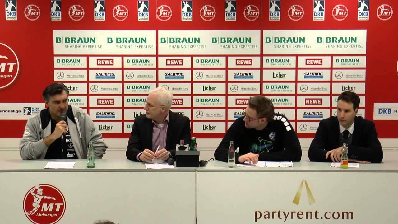 Pressekonferenz nach dem Spiel MT Melsungen - TBV Lemgo