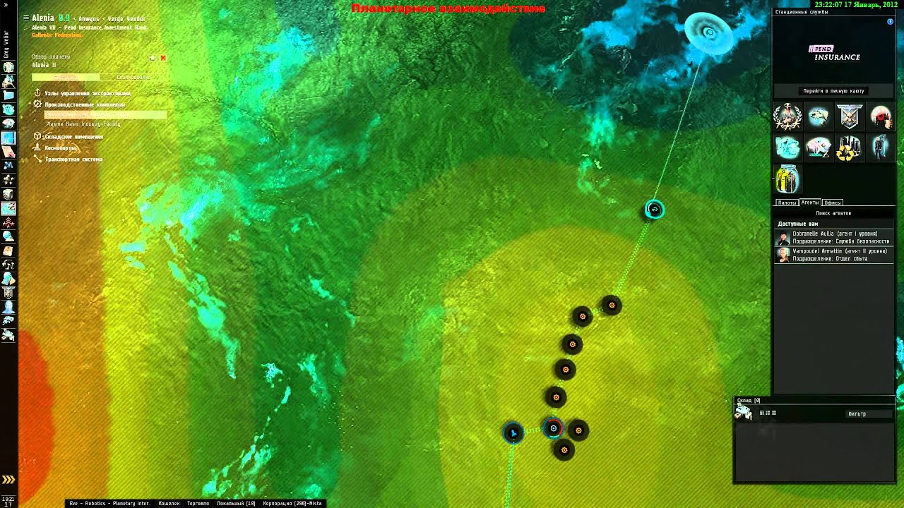 Планетарные схемы eve