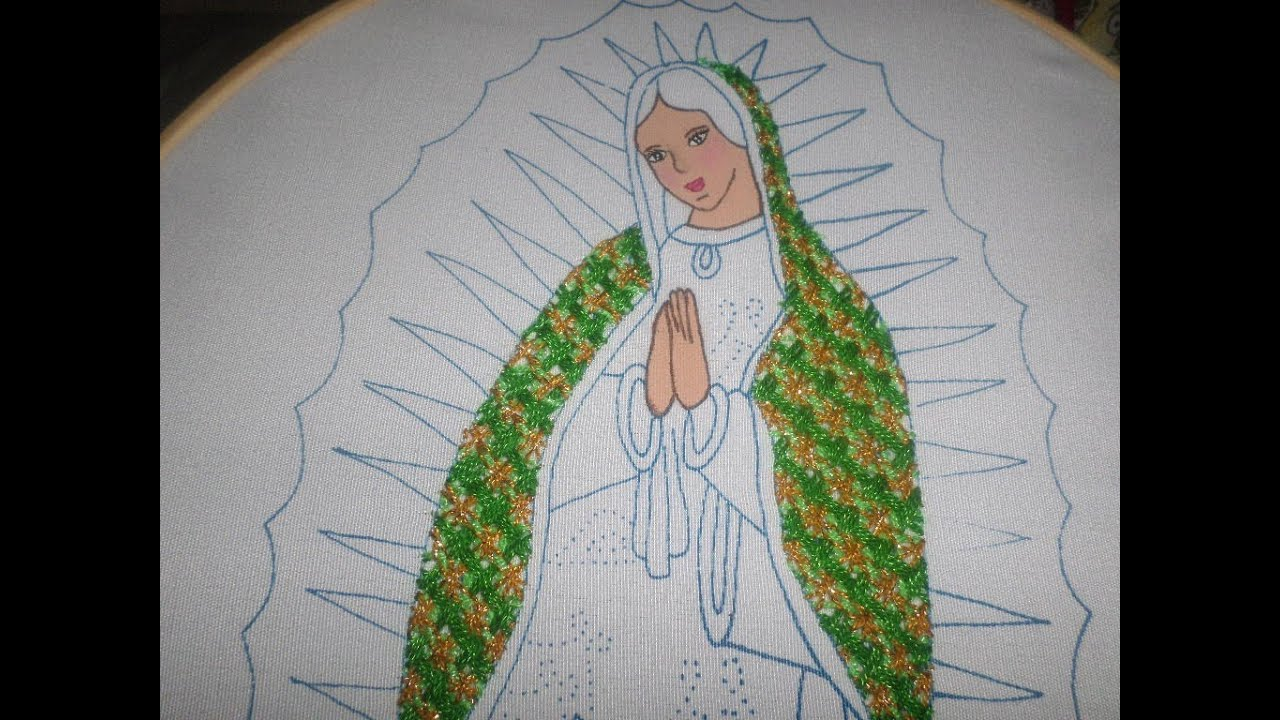 2dc1ac53b Bordado Fantasía Manto Virgen Guadalupe - YouTube