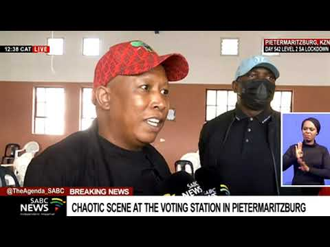LGE 2021 | Chaotic scenes at a voting station in Pietermaritzburg