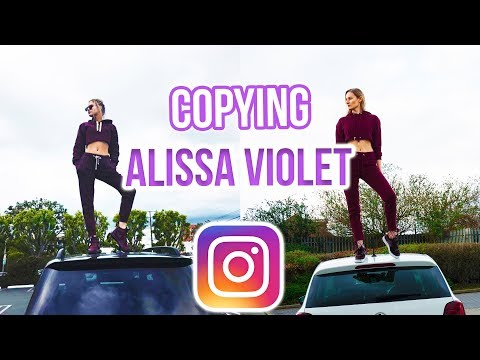 I COPIED ALISSA VIOLET'S INSTAGRAM