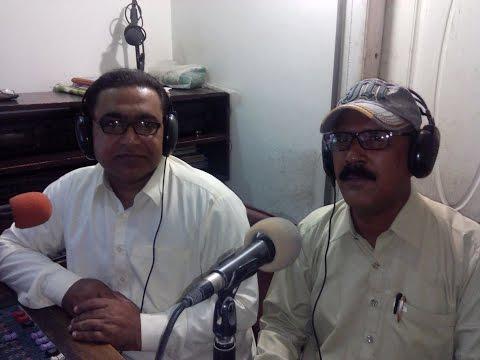 Aziz Mangi,Renowned Writer/Poet Of Sindh @ Hot FM 105 Larkana.