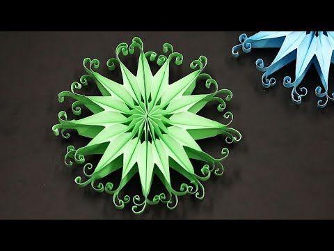 DIY 3D Paper Snowflakes| Christmas Tree Ornaments | Christmas Decorating Ideas