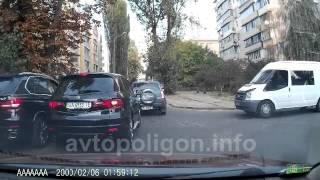 Наглый водитель на BMW X5 AA1234BX