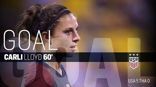 WNT vs. Thailand: Carli Lloyd Second Goal - Sept. 15, 2016