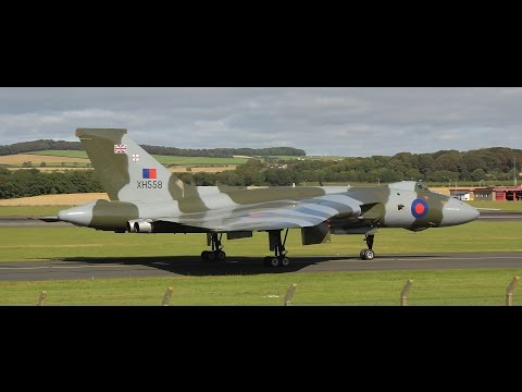 Avro Vulcan at The Scottish Airshow 2015 Final Takeoff in Scotland & More