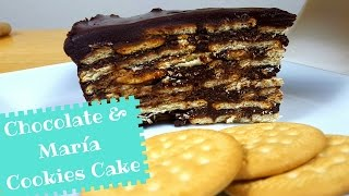 No Bake Chocolate and Maria Cookie Cake - La Cooquette