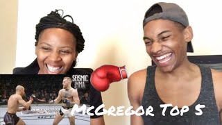 Conor McGregor | Top 5 Knockouts **REACTION**
