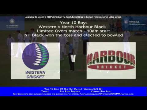 Year 10 Boys District Tournament:  Western v North Harbour Black