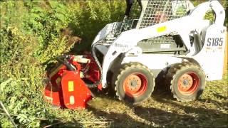 SEPPI M. - SMWA skid steer - flail mulcher / trinciatrice / Schlägelmulcher