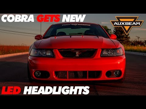 Cobra Gets LED Headlights | AUXBEAM