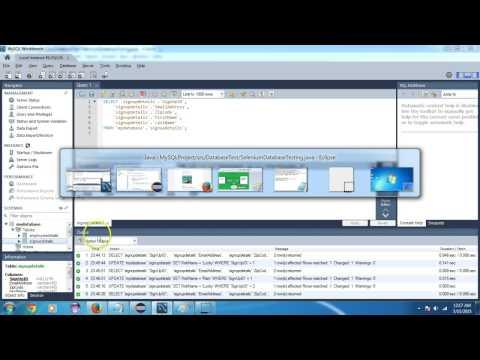 Selenium Database Testing