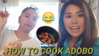 COOKING ADOBO:GIRLIE RECIPE🍗NEW HAIR CUT BYE LONG HAIR😁