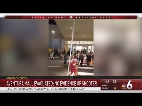 Local News Coverage Compilation of Shooting Scare at Aventura Mall