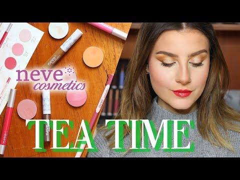 Nuova Collezione 🌸TEA TIME🍃 by Neve Cosmetics | Tutti gli Swatches + Make up Tutorial