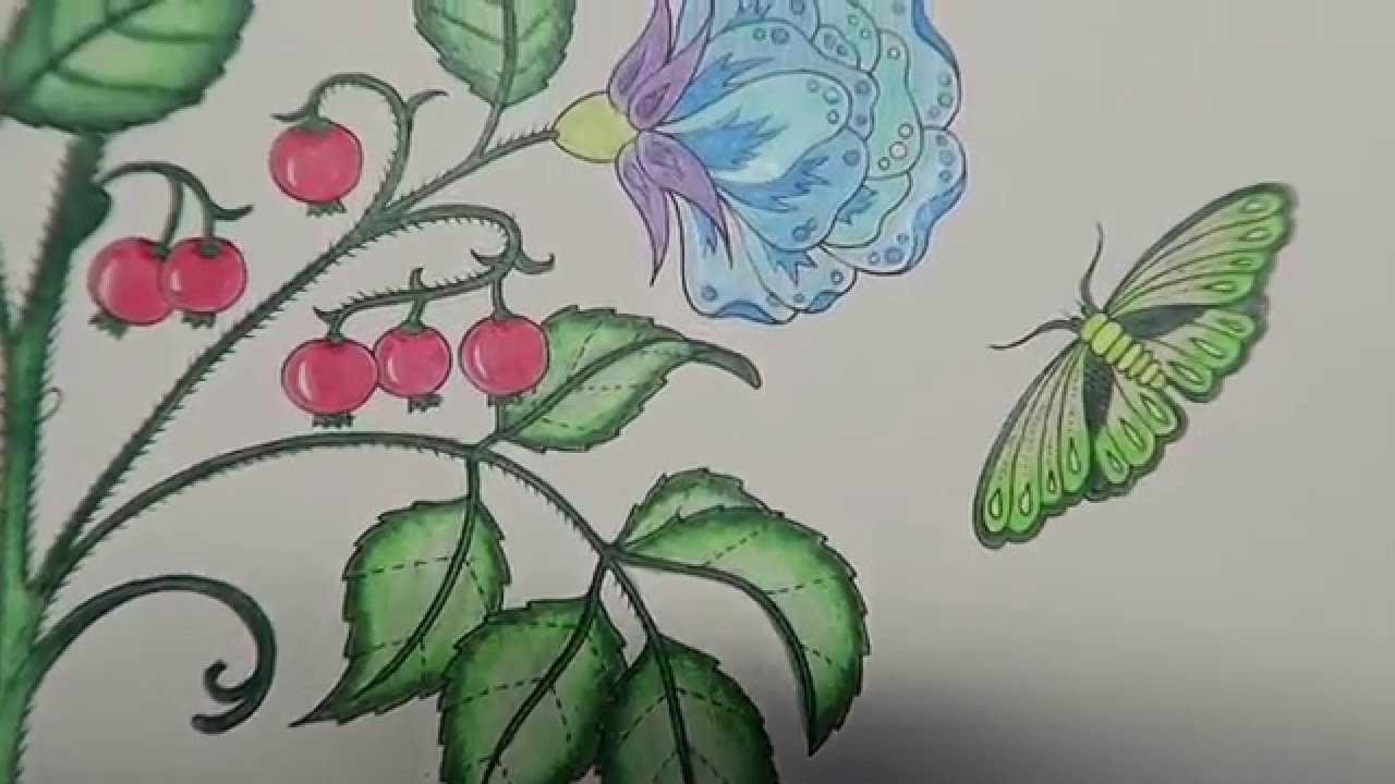 Secret Garden Coloring Book | Flowers - YouTube