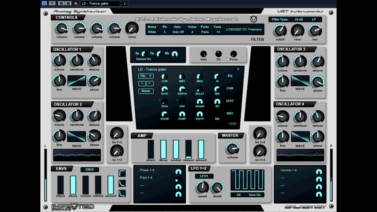 Free VST - Splash Synth - vstplanet.com