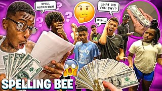 WE HAD A SPELLING BEE AND SOMEBODY WON $5,000!🐝