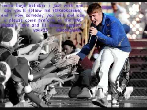 Bieber to Middle East [Message from Arab Beliebers]♥