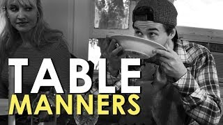 Dining Etiquette & Table Manners | AoM Instructional(Learn the basics of proper dining etiquette with Dim and Dash. Read the original article: ..., 2013-10-26T02:39:12.000Z)