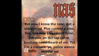 One Time 4 Your Mind - Nas (lyrics on screen)