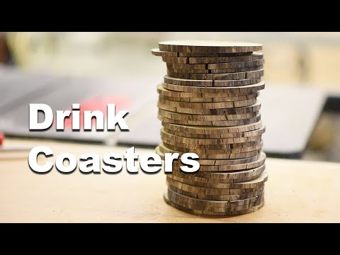 Making Wooden Drink Coasters From a Dead Tree Limb