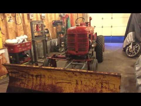 farmall a plow hook up