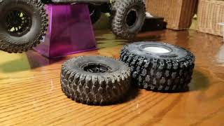 How to fit 2.2 wheels  and tires  on the  traxxas trx4 part 2