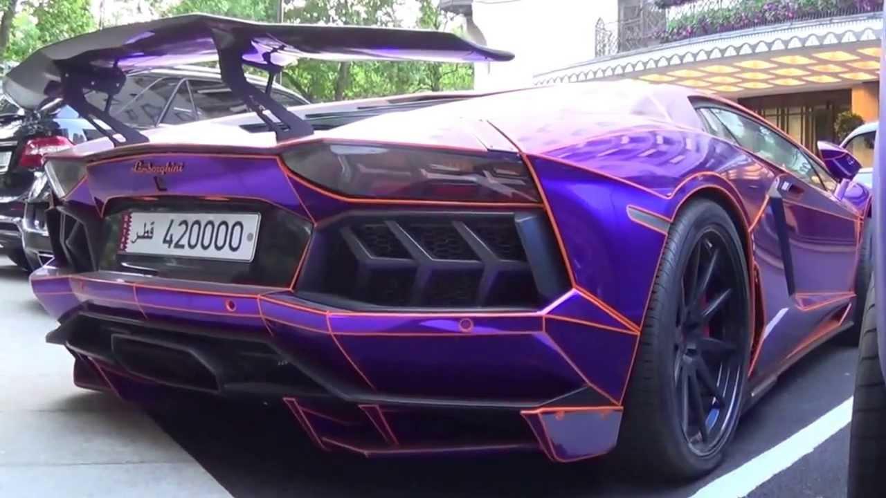 Glow In The Dark Lamborghini Supercars Youtube