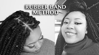 Triangle part Box Braids Rubber Band Method By yourself   Abbyliciouz