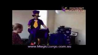 Magic Tricks Teen Party Floating Table Trick Melbourne Victoria Australia