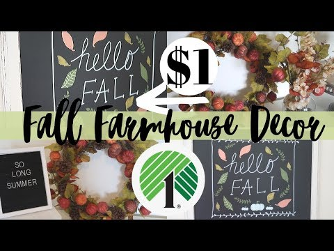 DIY FALL DOLLAR TREE | FARMHOUSE DECOR DIYS | GARAGE SALE FLIP DIY | DIY FALL DECOR