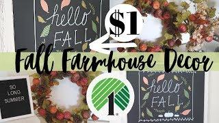 DIY FALL DOLLAR TREE   FARMHOUSE DECOR DIYS   GARAGE SALE FLIP DIY   DIY FALL DECOR