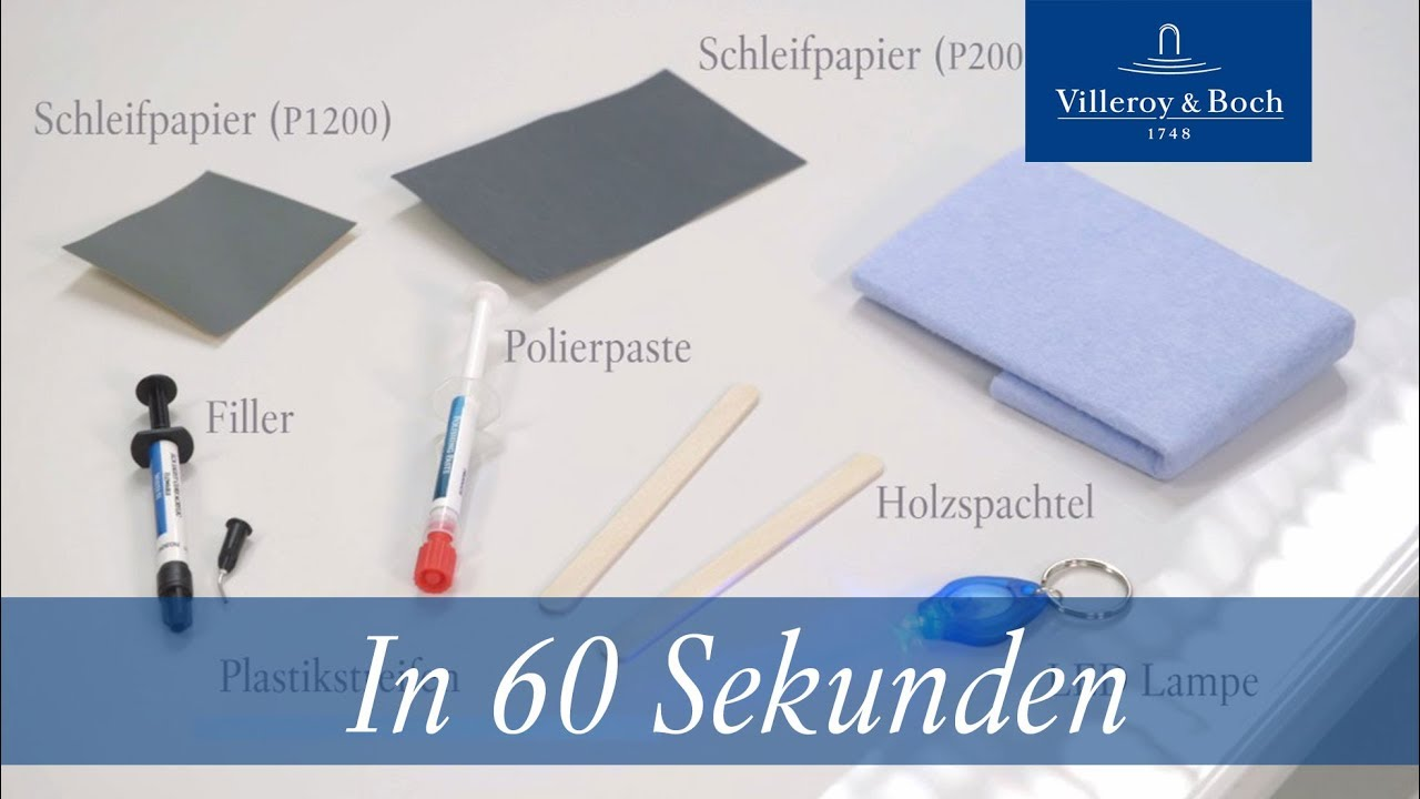 Favorit In 60 Sekunden: Reparatur Acryl & Quaryl® | Villeroy & Boch - YouTube IX16