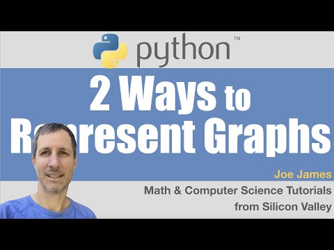 Python: 2 Ways to Represent Graphs
