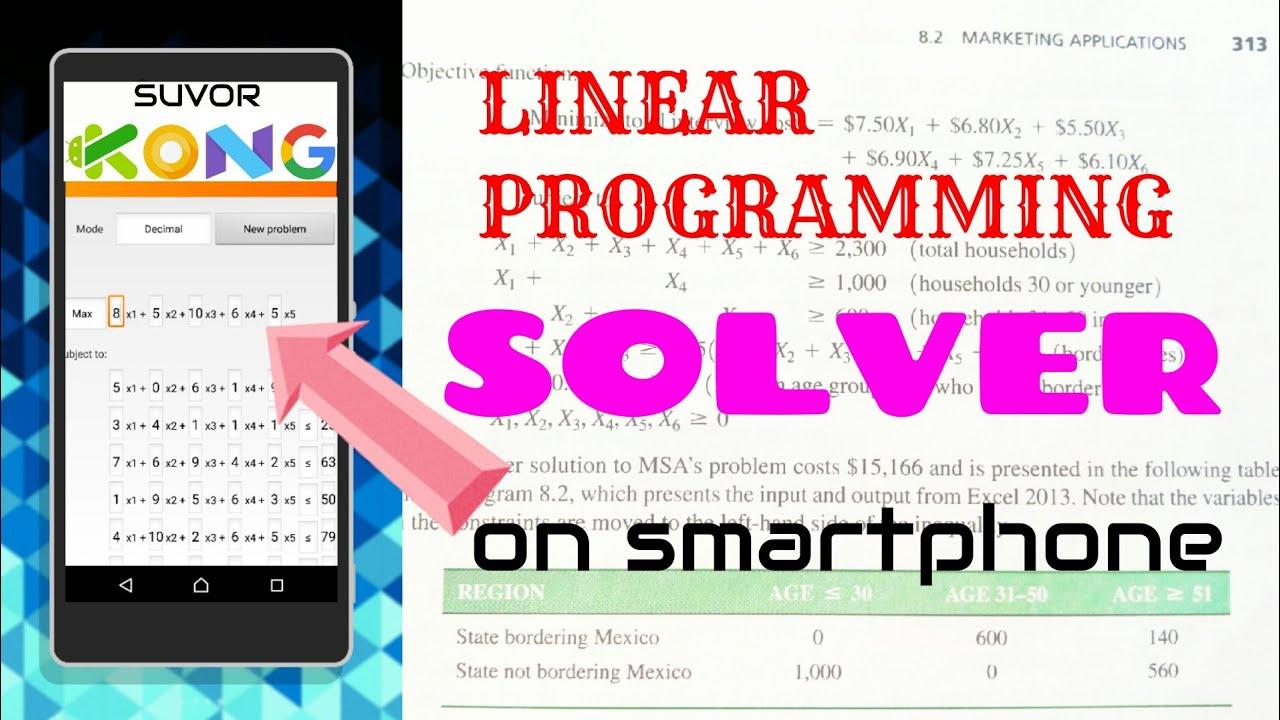 Ứng dụng hay | Giải bài toán quy hoạch tuyến tính bằng điện thoại (không dùng Solver trong Excel)