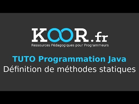 TUTO Java : Définition de méthodes statiques