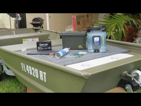 How To Install A Garmin Striker 4 Fishfinder On A Jon Boat! (No Holes Drilled)