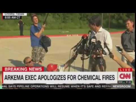 Officials updae on blasts at flooded Chemical Plant in Harris County , Texas