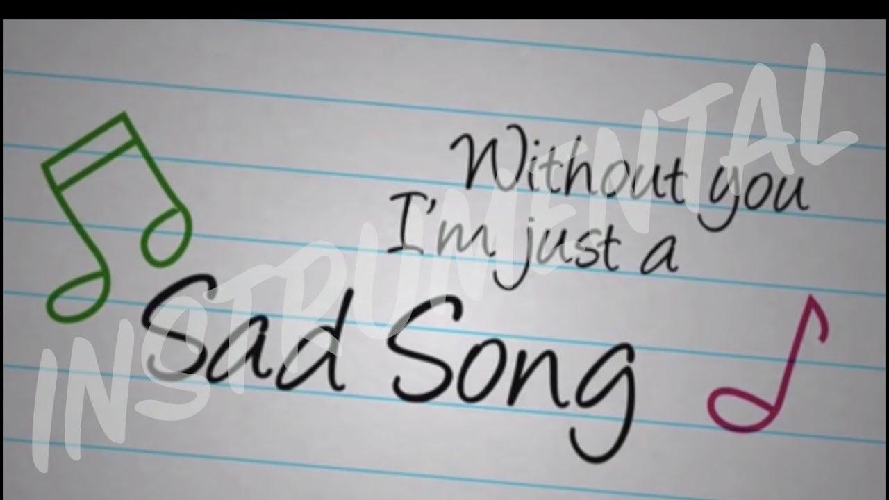Sad Song - We The Kings Instrumental (Aarik Ibanez) - YouTube Sad Song We The Kings