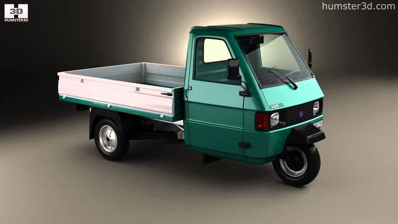 piaggio ape tm pickup 1982 by 3d model store. Black Bedroom Furniture Sets. Home Design Ideas